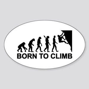 Evolution rock climbing Sticker (Oval)